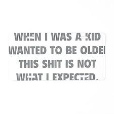 kidExpected1C Aluminum License Plate