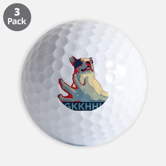 Mackie GKKHH! Shirt (rwb design) Golf Ball