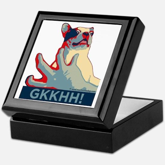 Mackie GKKHH! Shirt (rwb design) Keepsake Box