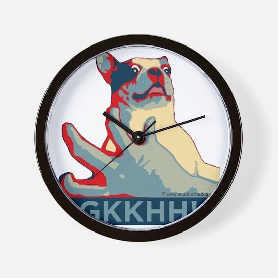 Mackie GKKHH! Shirt (rwb design) Wall Clock