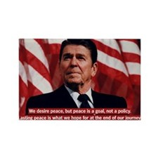 Ronald Reagan Peace Quote Rectangle Magnet