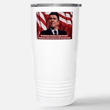 Ronald Reagan Peace Quote Travel Mug