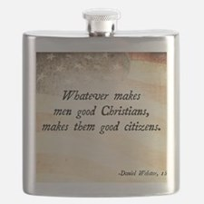Daniel Webster Christian Quote Flask