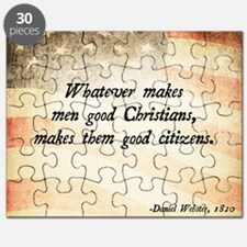 Daniel Webster Christian Quote Puzzle