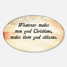Daniel Webster Christian Quote Decal