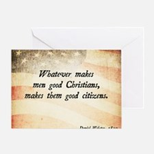 Daniel Webster Christian Quote Greeting Card