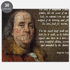 Benjamin Franklin Christianity Quote Puzzle