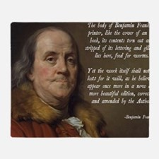 Benjamin Franklin Christianity Quote Throw Blanket
