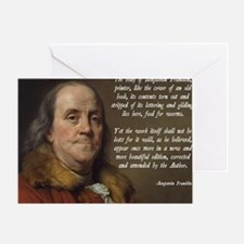 Benjamin Franklin Christianity Quote Greeting Card