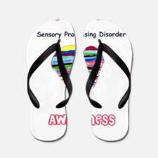 Sensory Processing Disorder Awareness Flip Flops