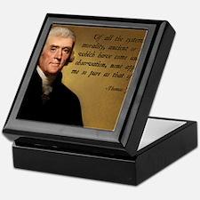 Thomas Jefferson Jesus Quote Keepsake Box