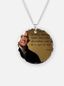 Thomas Jefferson Jesus Quote Necklace