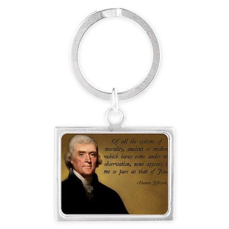Thomas Jefferson Jesus Quote Landscape Keychain