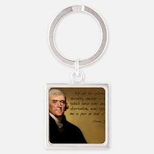 Thomas Jefferson Jesus Quote Square Keychain