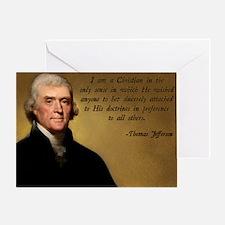 Thomas Jefferson Christian Quote Greeting Card