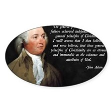 John Adams Christianity Quote Decal