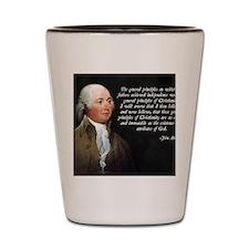 John Adams Christianity Quote Shot Glass