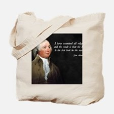 John Adams Christian Bible Tote Bag