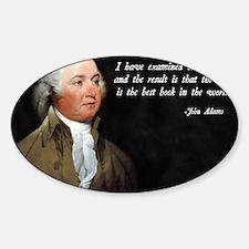 John Adams Christian Bible Decal