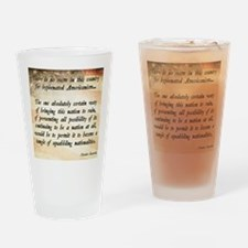 Teddy Roosevelt Quote Drinking Glass