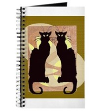Twin Black Cat Abstract Journal