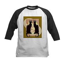 Twin Black Cat Abstract Baseball Jersey