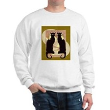 Twin Black Cat Abstract Sweatshirt