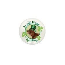 St. Patrick Irish Water Spaniel Mini Button (10 pa