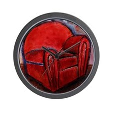 EASY Red by Mick Sharp Wall Clock