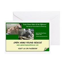 OPEN ARMS POUND RESCUE Greeting Card
