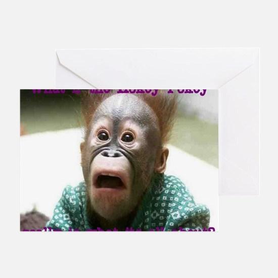 Hokey Pokey Orangutan Greeting Card