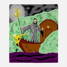 Charon the Ferryman Throw Blanket