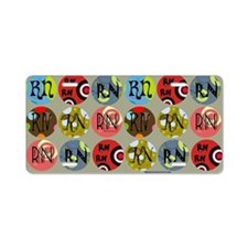 RN Colorful Circles Nurse S Aluminum License Plate