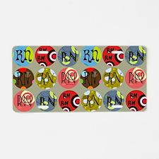 RN Colorful Circles Nurse S Aluminum License Plate