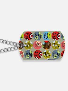 RN Colorful Circles Nurse Shoulder Bag Dog Tags