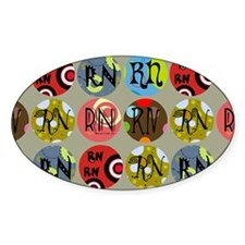 RN Colorful Circles Nurse Shoulder  Decal