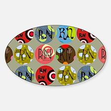 RN Colorful Circles Nurse Shoulder  Decal