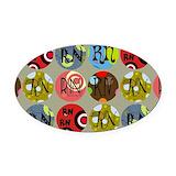 Nurse Oval Car Magnets