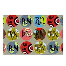 RN Colorful Circles Nurse Postcards (Package of 8)