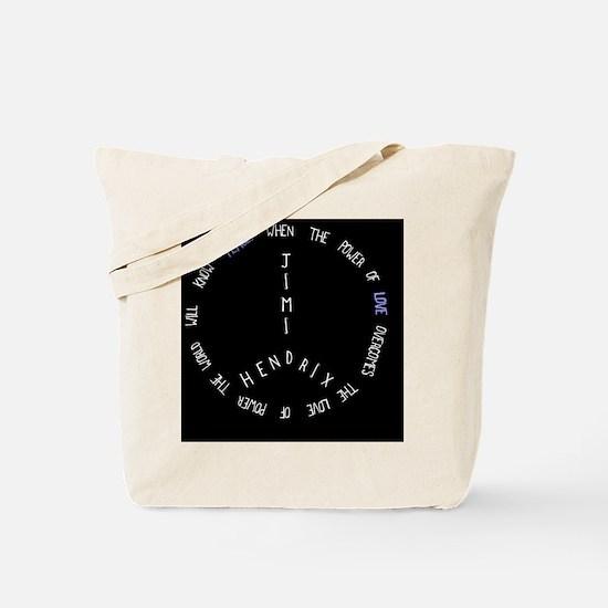 Jimi Hendrix Peace Sign (peace and love) Tote Bag