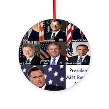 President Mitt Romney 2012 Round Ornament