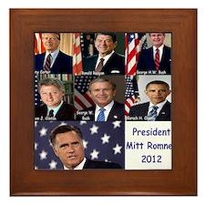 President Mitt Romney 2012 Framed Tile