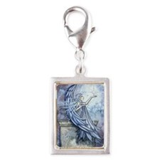 Angel Silver Portrait Charm