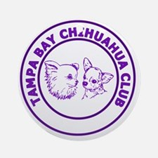 Tampa Bay Chihuahua Club - Purple Round Ornament