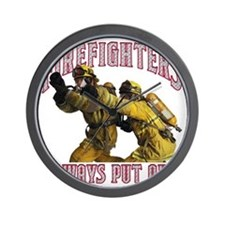 Firefighters Put Out Wall Clock