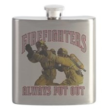Firefighters Put Out Flask