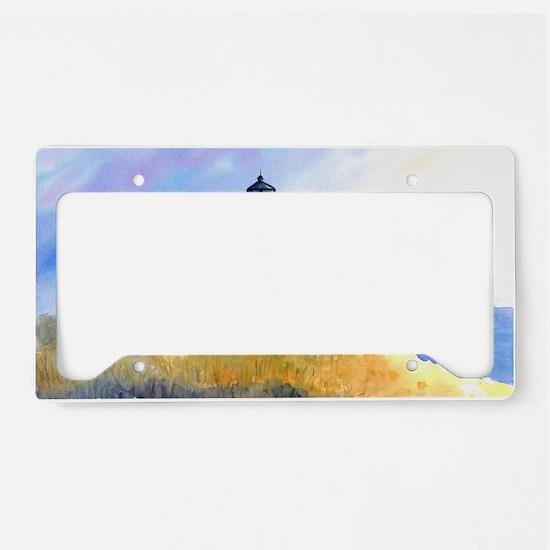 Cape Cod Light Print License Plate Holder