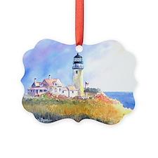 Cape Cod Light Print Ornament