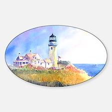 Cape Cod Light Print Sticker (Oval)