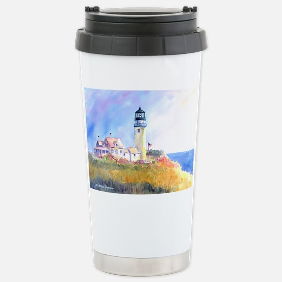 Cape Cod Light Print Stainless Steel Travel Mug
